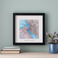 Personalised Square Map Print Father's Day Gift