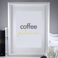 'Coffee Please' Print | Housewarming Gift | Wall Art