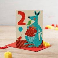 Kangaroo Greetings Card
