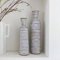 White Striped Vase