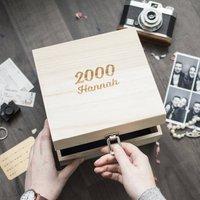 Name And Year Milestone Birthday Memory Box