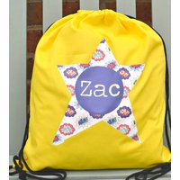 Boy's Personalised Pe Or Kit Bag Various Designs, Red/Bright Green/Green