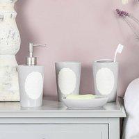 French Grey Four Piece Bathroom Accessories Set