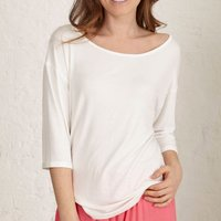 Slouchy Lounge Top, Ivory/Navy Blue/Navy
