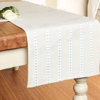 Millstone Blue Heart Cotton Table Runner