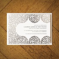 Winter Snowflakes Foiled Wedding Invitation, Gold/Silver/Rose Gold