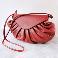 Candy Slouchy Leather Handbag Red