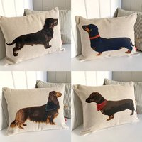 Dachshund Mini Bolster Cushion