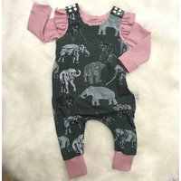 Organic Elephant Baby And Toddler Dungarees