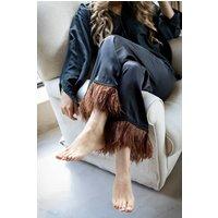 Chestnut Silk Trousers