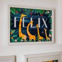 Personalised Giraffe Name Print
