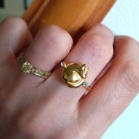Personalised Cat Ring With Topaz