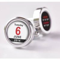 Personalised Time And Place Cufflinks