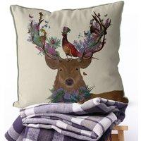 Scottish Woodland Deer Decorative Cushion