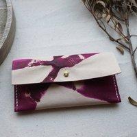 Leather Tie Dye Purse