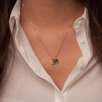 Gold Initials Necklace, Gold