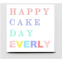 Happy Cake Day Personalised Greeting Card