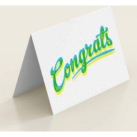 'Congrats' Typographic Congratulations Card
