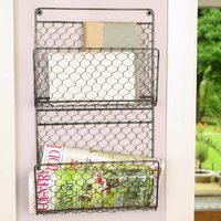 Home Office Wall Mounted Magazine Rack