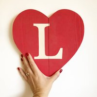 Monogram Reclaimed Wooden Heart