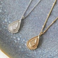 Unity Teardrop Pendant Necklace In Silver Or Gold, Silver