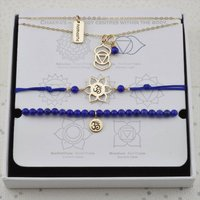 Third Eye Chakra Jewellery Set In Gold Or Silver, Silver