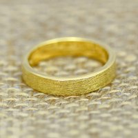 4mm Flat Profile 18ct Gold 'Clough' Wedding Ring, Gold