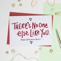 No One Else Like You Valentines Card