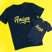 Amigos Father And Son T Shirt And Babygrow Set