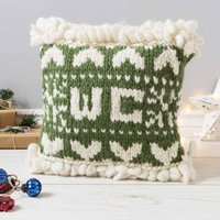 Personalised Christmas Cushion Knitting Kit