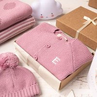 Dawn Pink Bubble Baby Cardigan