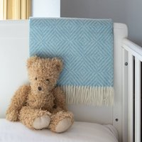 Merino Diamond Baby Blanket, Baby Pink/Pink/Baby Blue