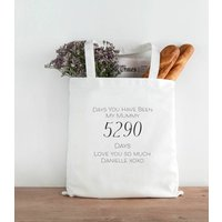 Days You Have Been My Mummy Personalised Tote Bag