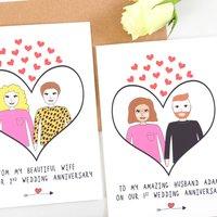 Personalised Anniversary Love Card
