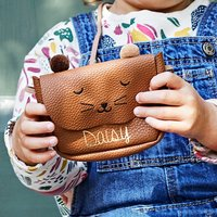 Kids Teddy Bear Personalised Coin Purse Bag