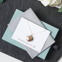 Circle Locket Necklace Rose Gold, Gold