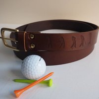 Personalised Engraved Leather Golfers Belt