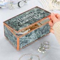 Personalised Vintage Style Marble Jewellery Box