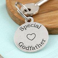 Godfather Gift Personalised Round Keyring