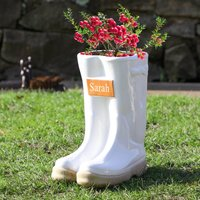 Personalised Welly Boots Garden Planter