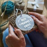 Personalised Family Christmas Keepsake Decoration
