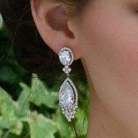 Large Teardrop Crystal Statement Earrings