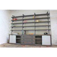 Luigi Reclaimed Scaffolding Cupboard Unit With Shelves