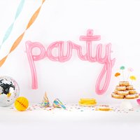 Pink Party Script Balloon Decoration, Pink