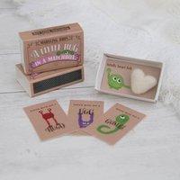 A Little Hug In A Matchbox Gift With Felt Heart