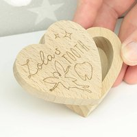 Personalised Heart Tooth Fairy Box