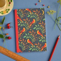 Nightingale Pattern Notebook A5 Size