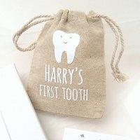 Parents Personalised First Tooth Keepsake Bag
