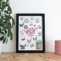Tea And Biscuits Illustration Print