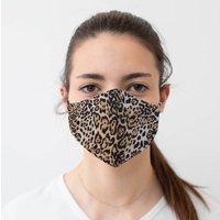 Kids Leopard Print Reusable Face Mask   Reversible